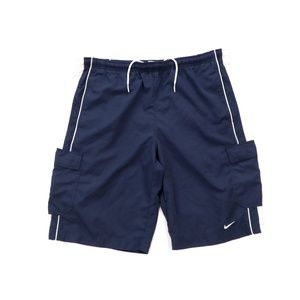 Vintage 90s Nike Mini Swoosh Lined Nylon Shorts